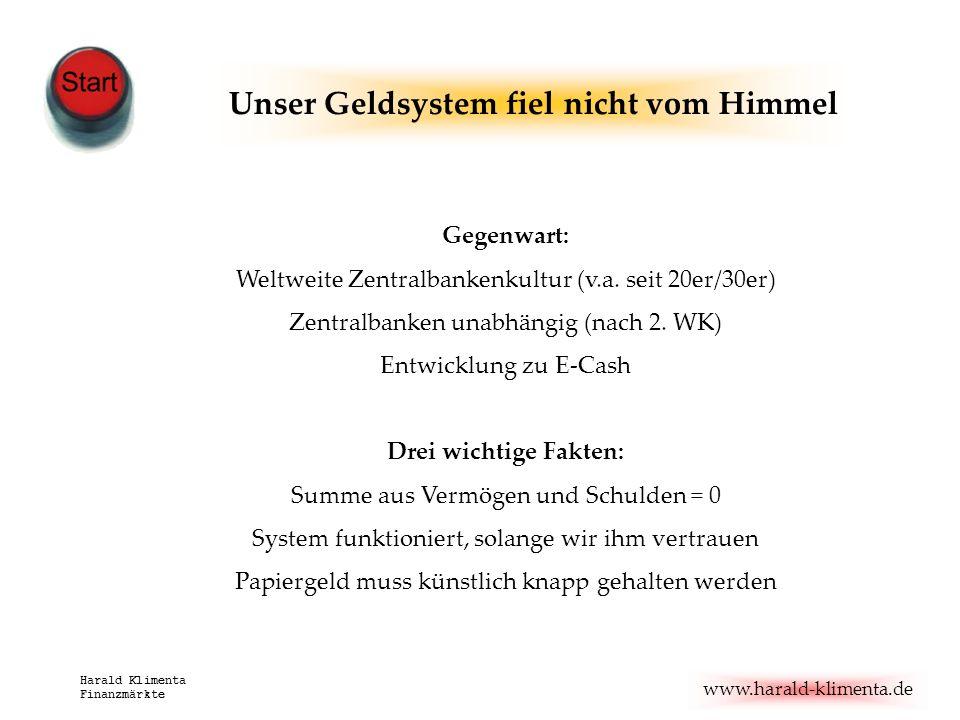 Unser Geldsystem fiel nicht vom Himmel