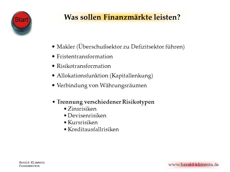 Was sollen Finanzmärkte leisten