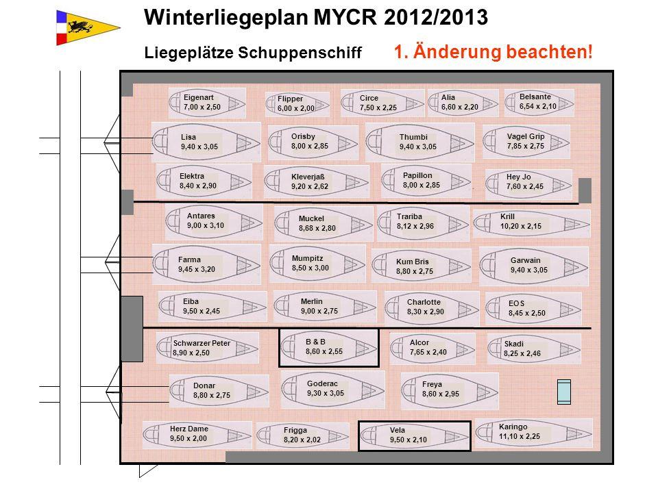 Winterliegeplan MYCR 2012/2013