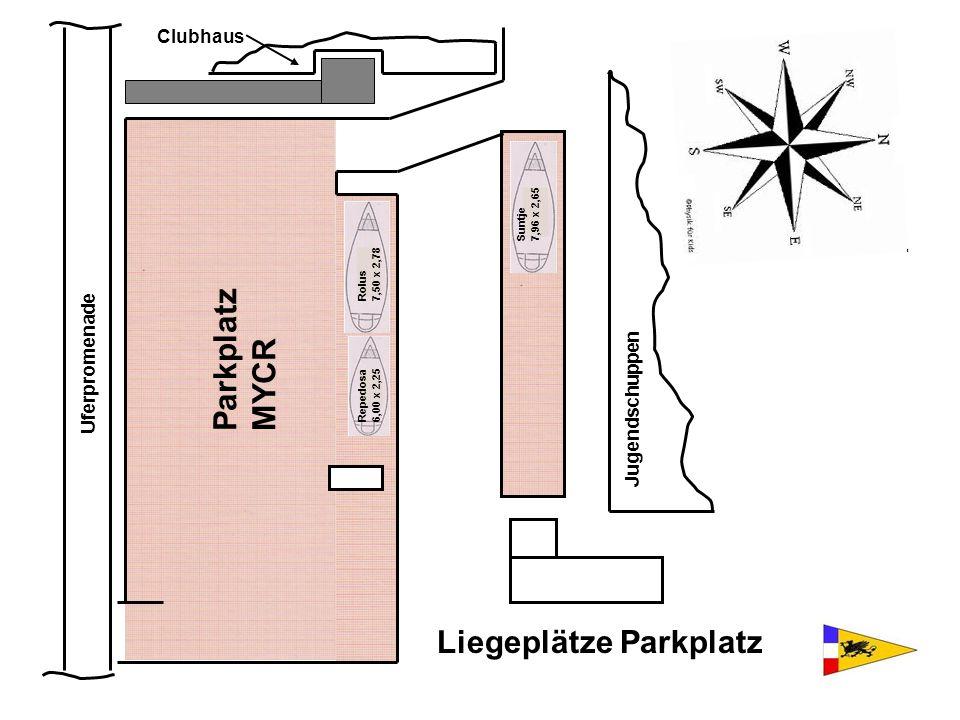 Liegeplätze Parkplatz