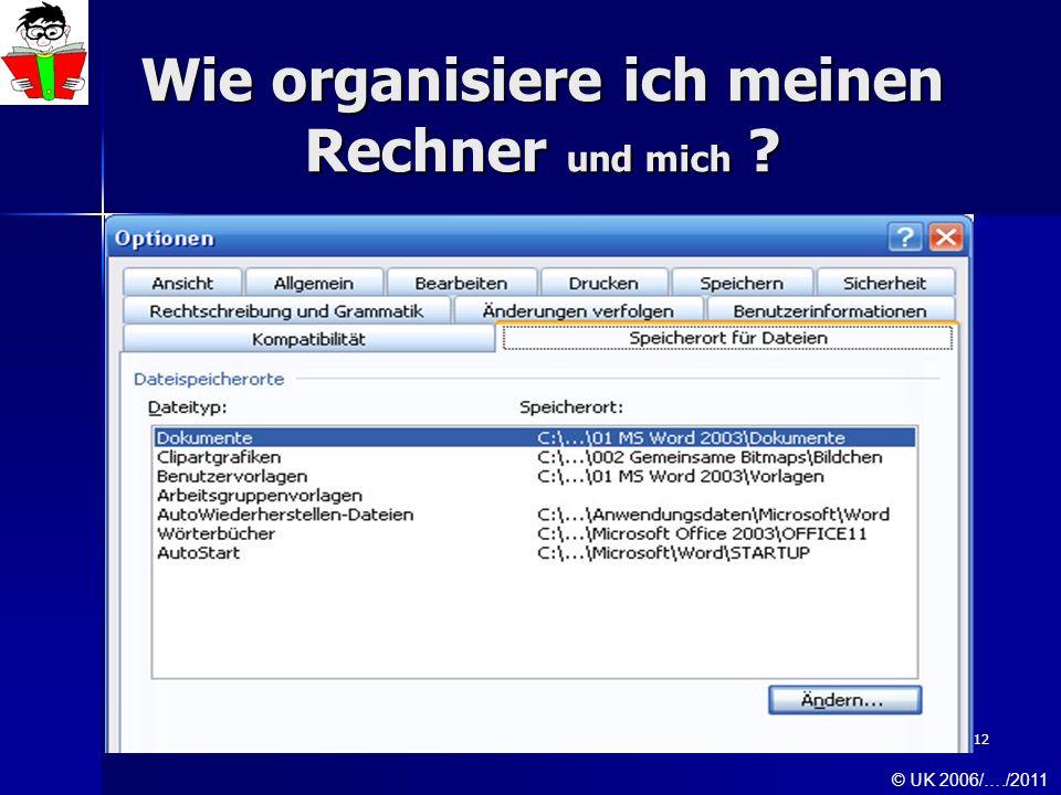 Wie organisiere ich meinen Rechner und mich
