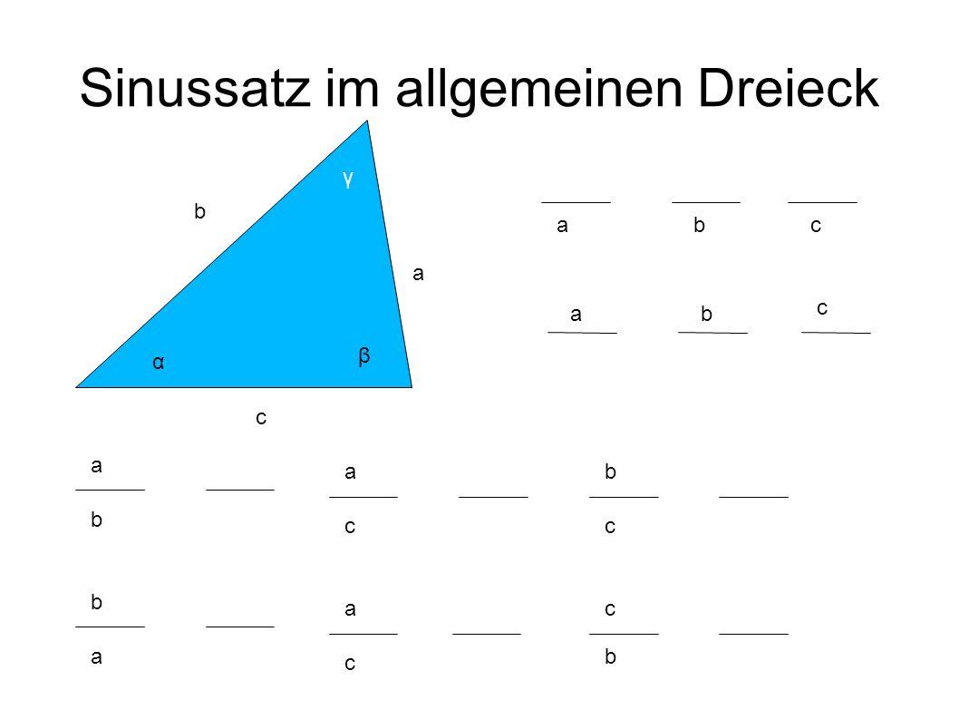 Sinussatz im allgemeinen Dreieck