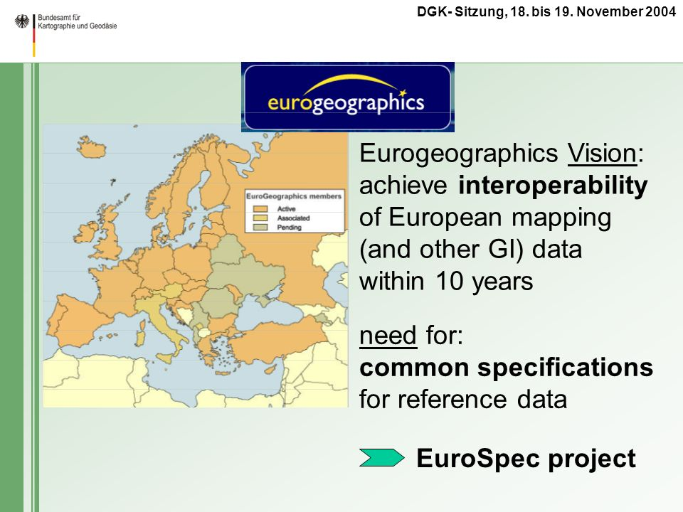 Eurogeographics Vision: achieve interoperability of European mapping (and other GI) data within 10 years