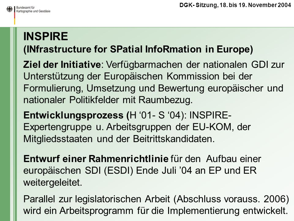 INSPIRE (INfrastructure for SPatial InfoRmation in Europe)