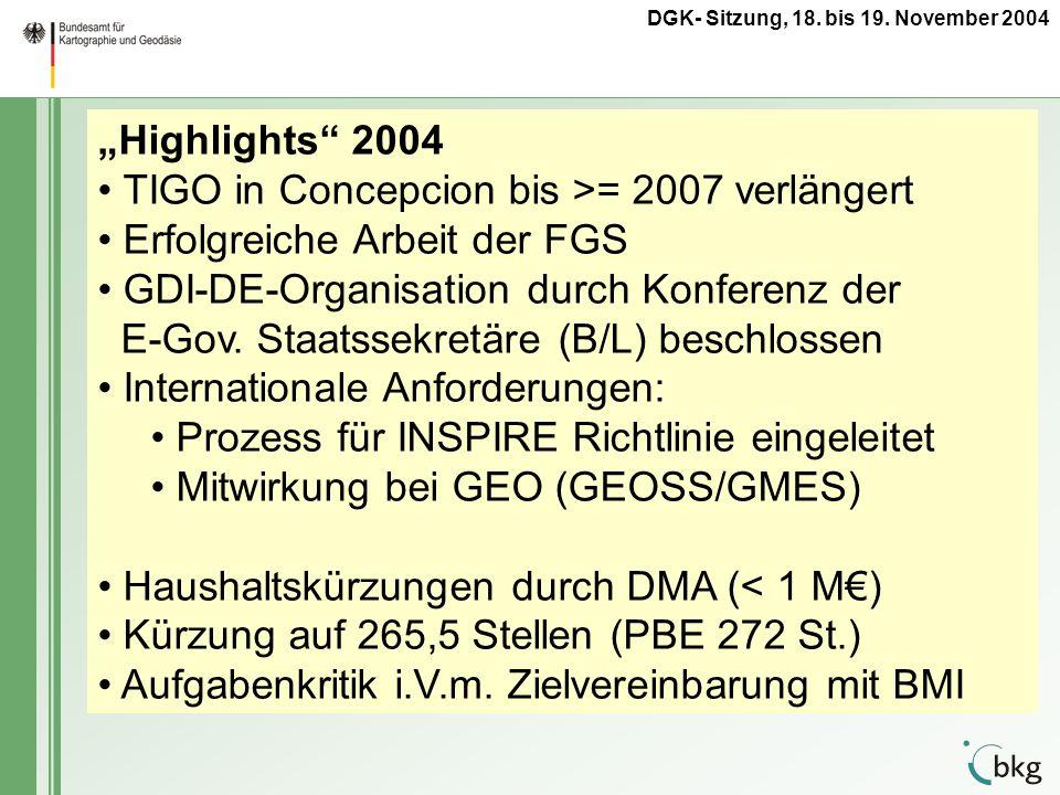 TIGO in Concepcion bis >= 2007 verlängert