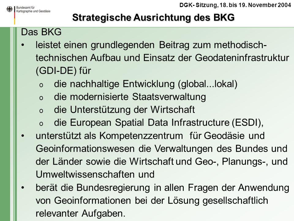 Strategische Ausrichtung des BKG