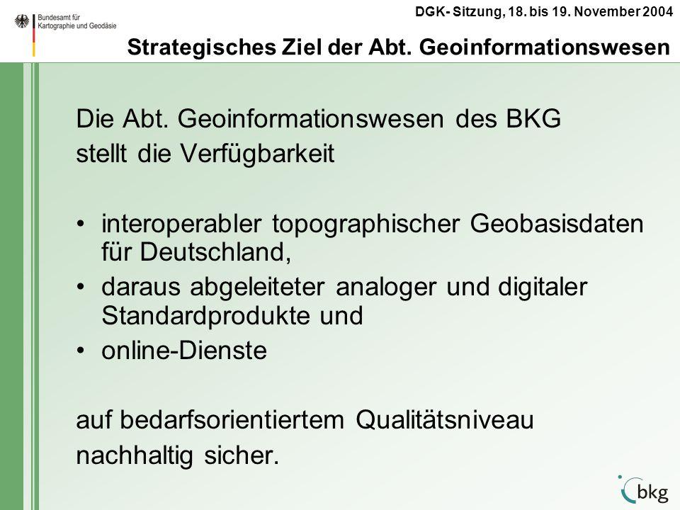 Strategisches Ziel der Abt. Geoinformationswesen