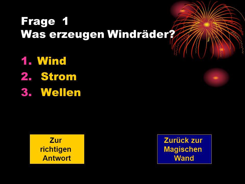 Frage 1 Was erzeugen Windräder