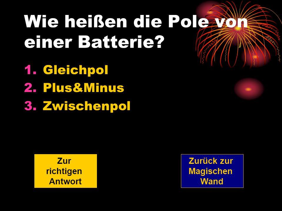 Wie heißen die Pole von einer Batterie