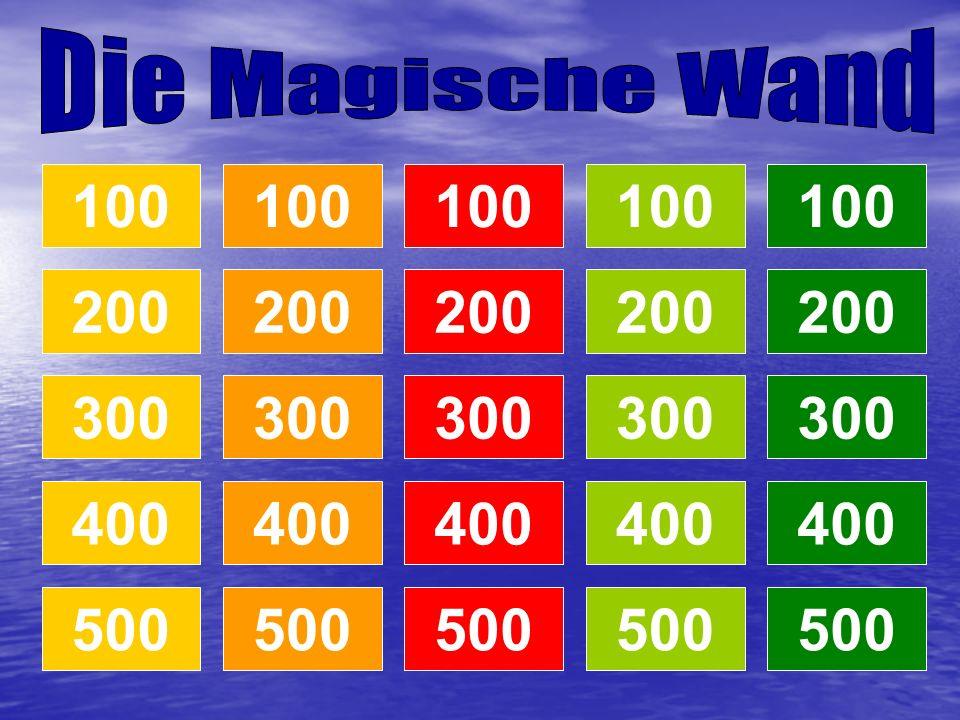 Die Magische Wand 100. 100. 100. 100. 100. 200. 200. 200. 200. 200. 300. 300. 300. 300.