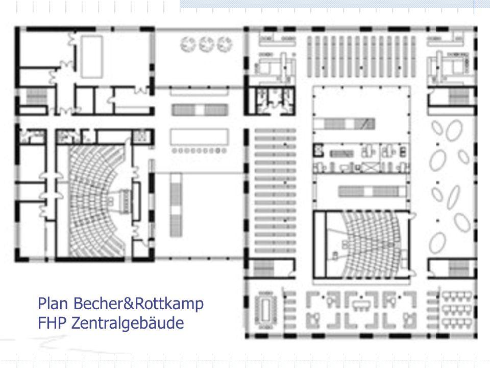 Plan Plan Becher&Rottkamp FHP Zentralgebäude