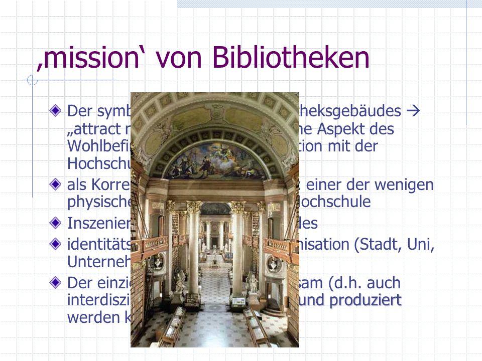 'mission' von Bibliotheken
