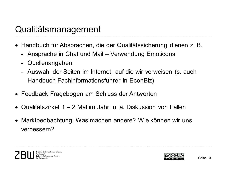 QualitätsmanagementHandbuch für Absprachen, die der Qualitätssicherung dienen z. B. Ansprache in Chat und Mail – Verwendung Emoticons.