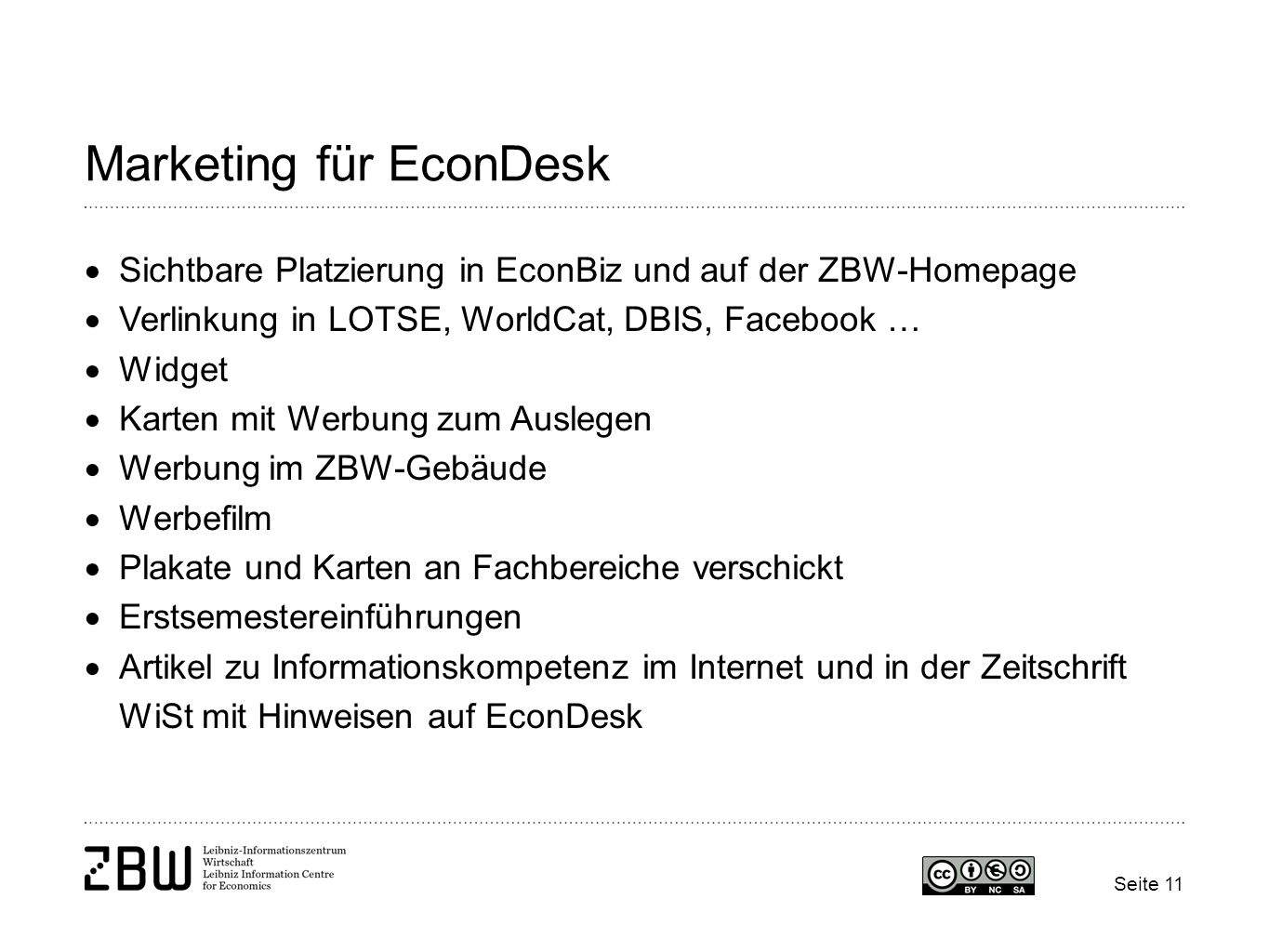 Marketing für EconDesk