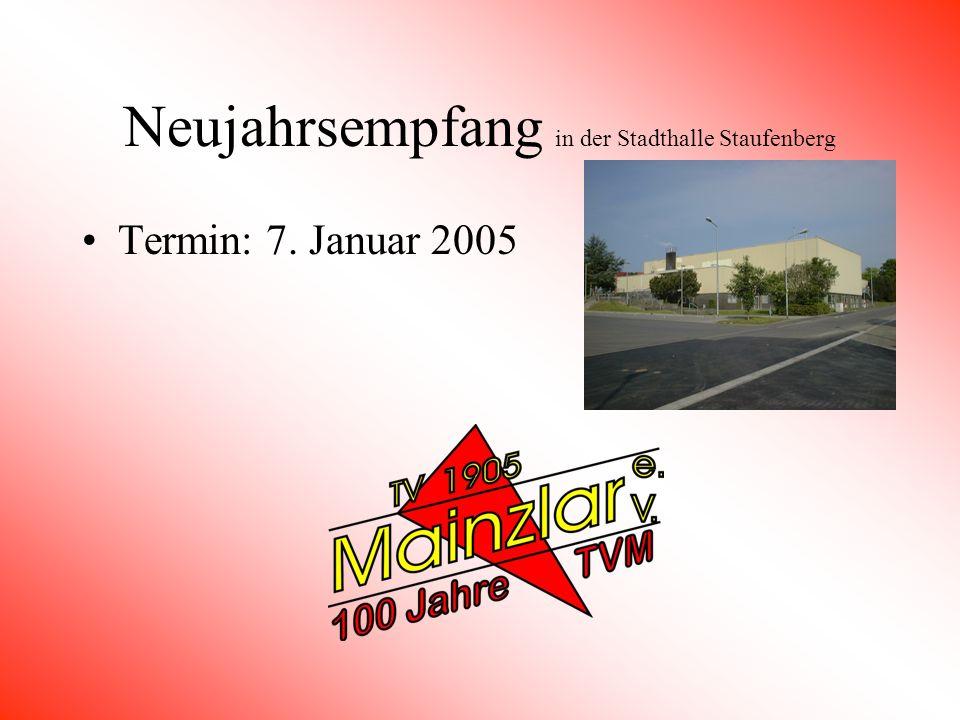Neujahrsempfang in der Stadthalle Staufenberg