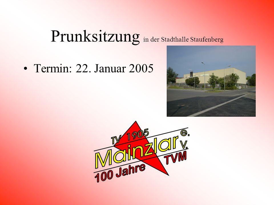 Prunksitzung in der Stadthalle Staufenberg