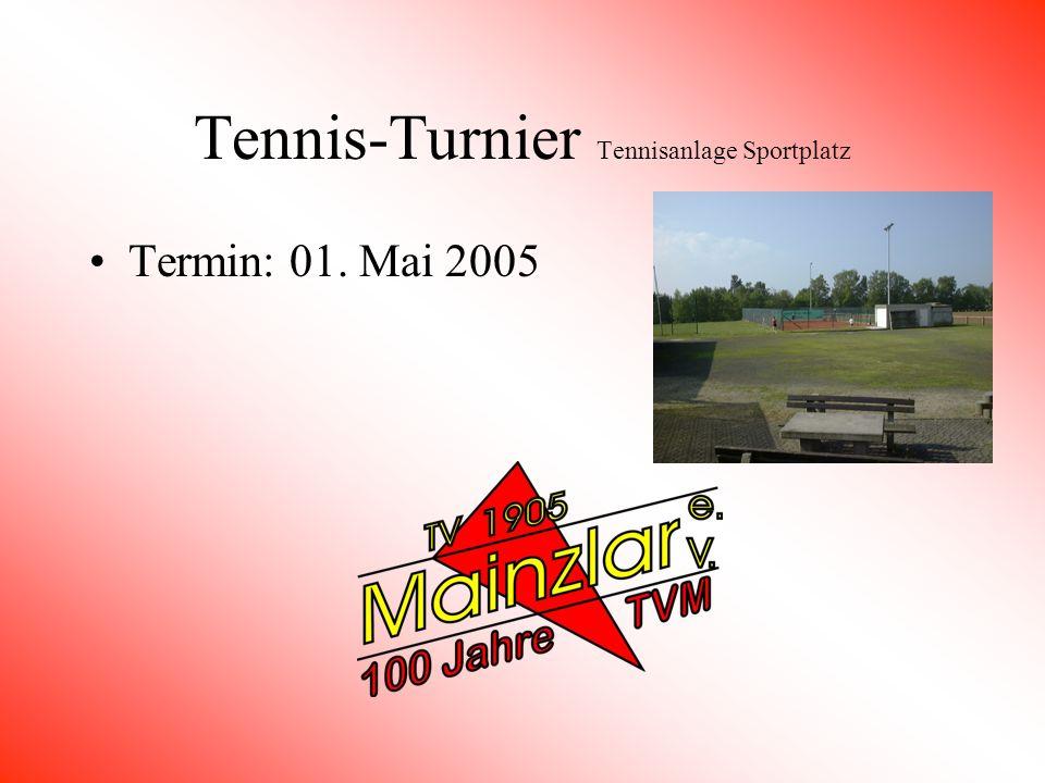 Tennis-Turnier Tennisanlage Sportplatz