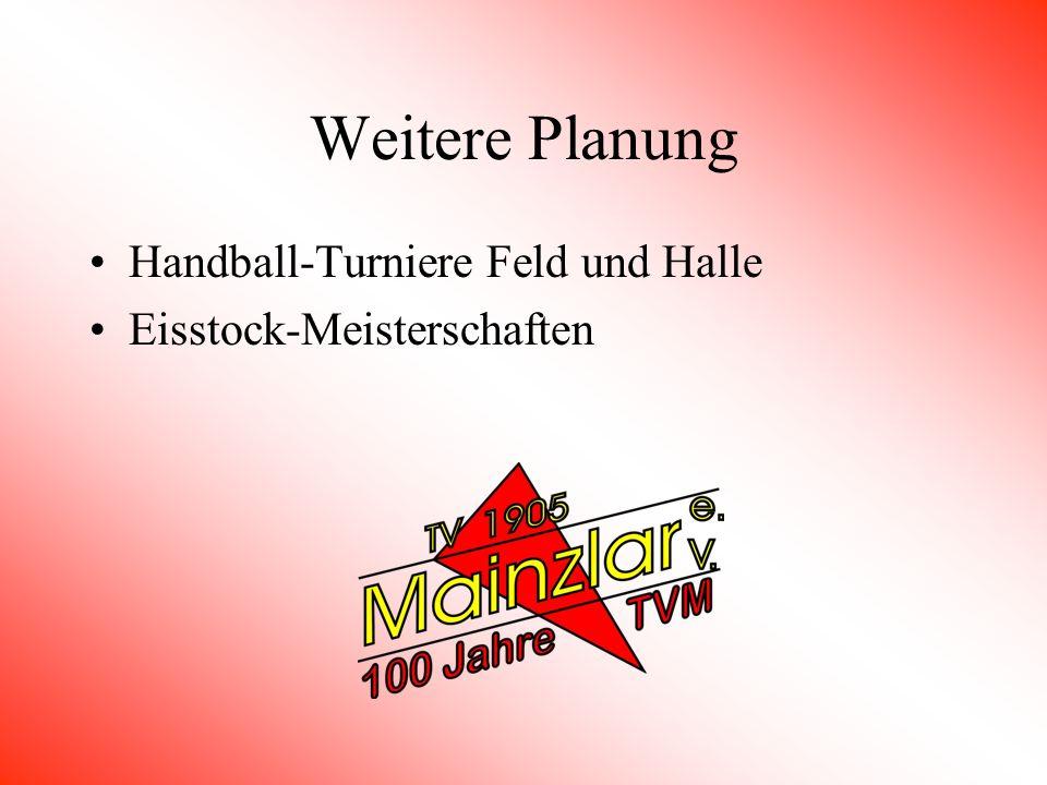 Weitere Planung Handball-Turniere Feld und Halle