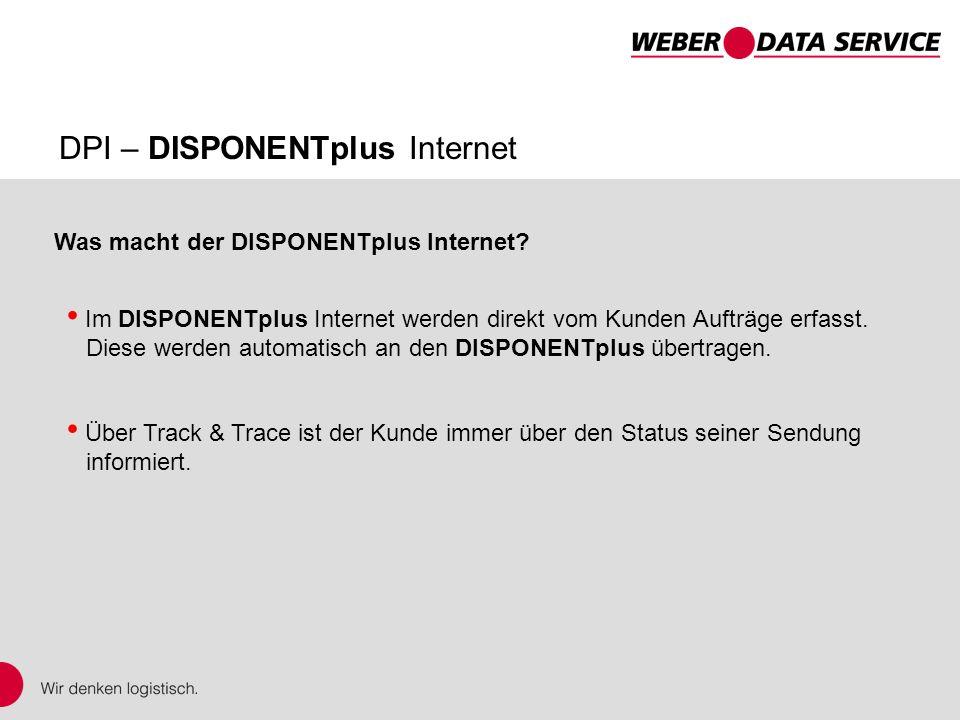 Was macht der DISPONENTplus Internet