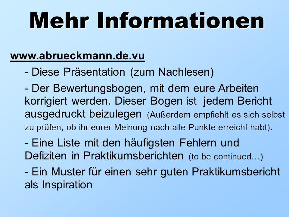Mehr Informationen www.abrueckmann.de.vu