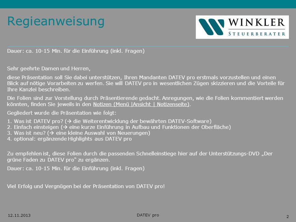 Regieanweisung Dauer: ca. 10-15 Min. für die Einführung (inkl. Fragen)