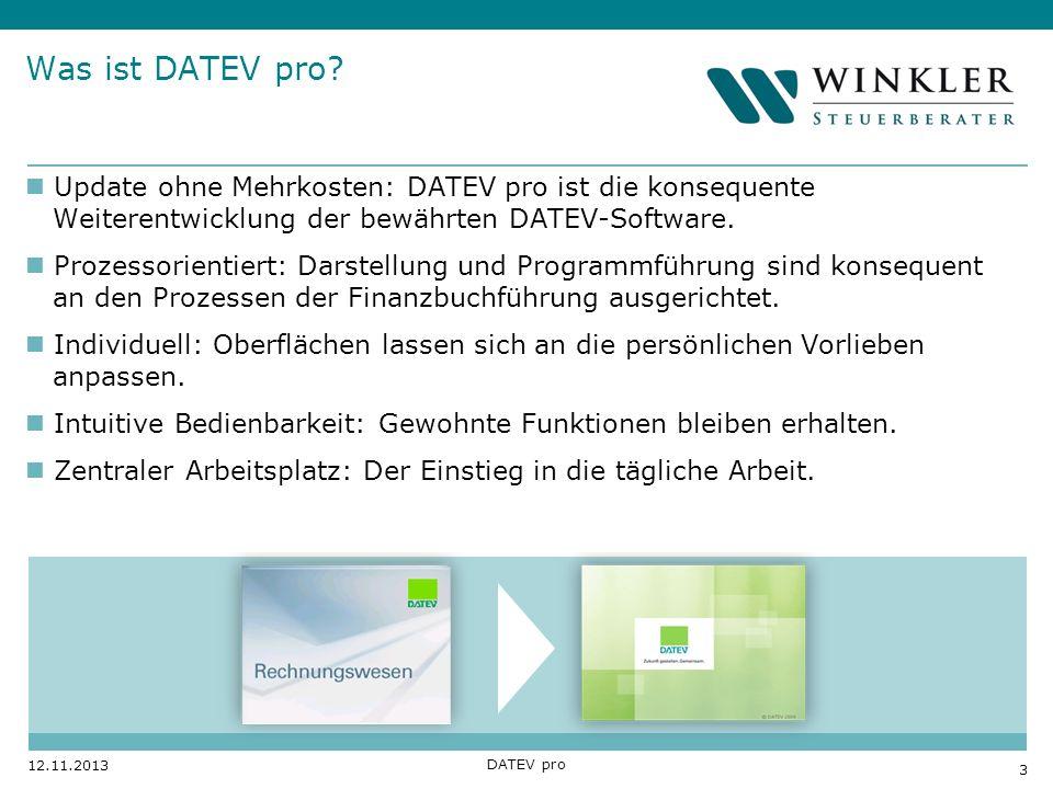 Was ist DATEV pro Update ohne Mehrkosten: DATEV pro ist die konsequente Weiterentwicklung der bewährten DATEV-Software.