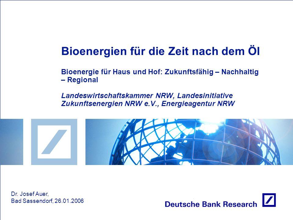 Bioenergien für die Zeit nach dem Öl Bioenergie für Haus und Hof: Zukunftsfähig – Nachhaltig – Regional Landeswirtschaftskammer NRW, Landesinitiative Zukunftsenergien NRW e.V., Energieagentur NRW