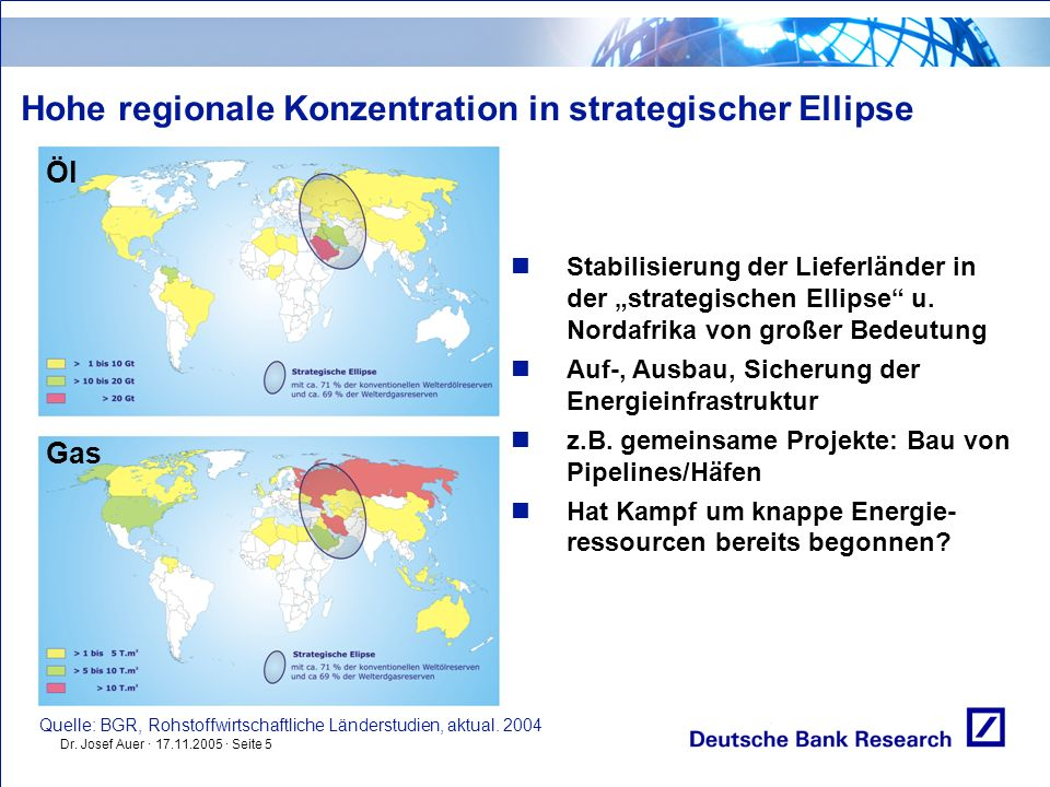 Hohe regionale Konzentration in strategischer Ellipse