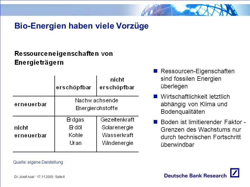 Bio-Energien haben viele Vorzüge