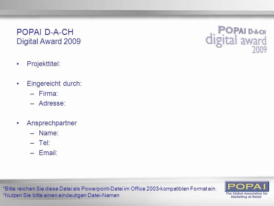 POPAI D-A-CH Digital Award 2009