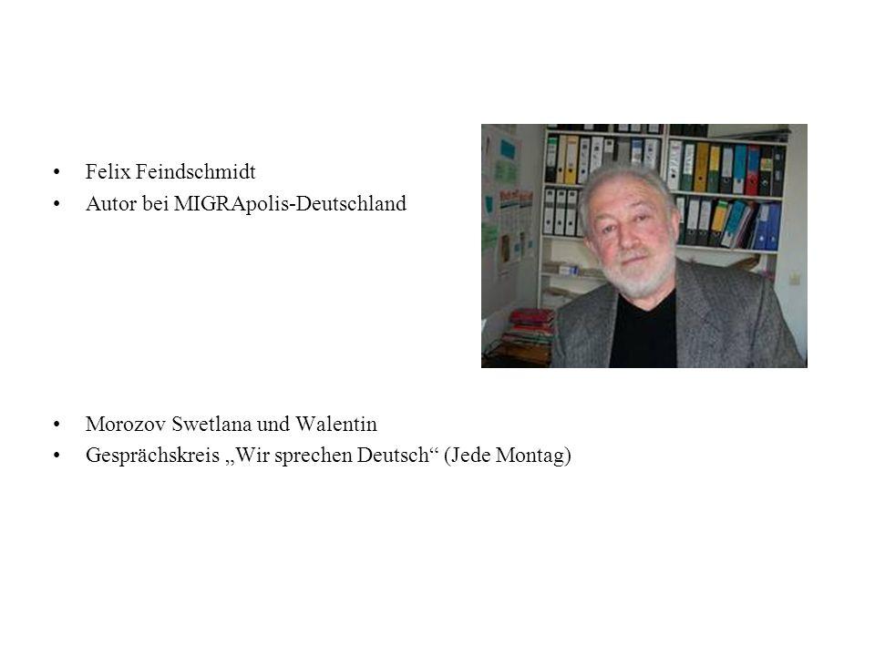 Felix Feindschmidt Autor bei MIGRApolis-Deutschland.