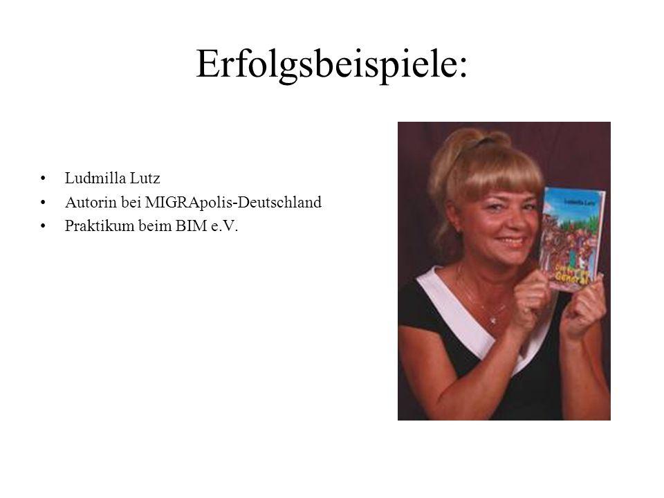 Erfolgsbeispiele: Ludmilla Lutz Autorin bei MIGRApolis-Deutschland