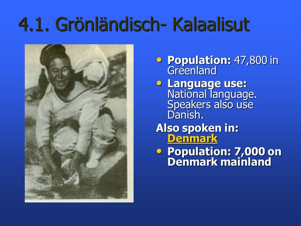 4.1. Grönländisch- Kalaalisut