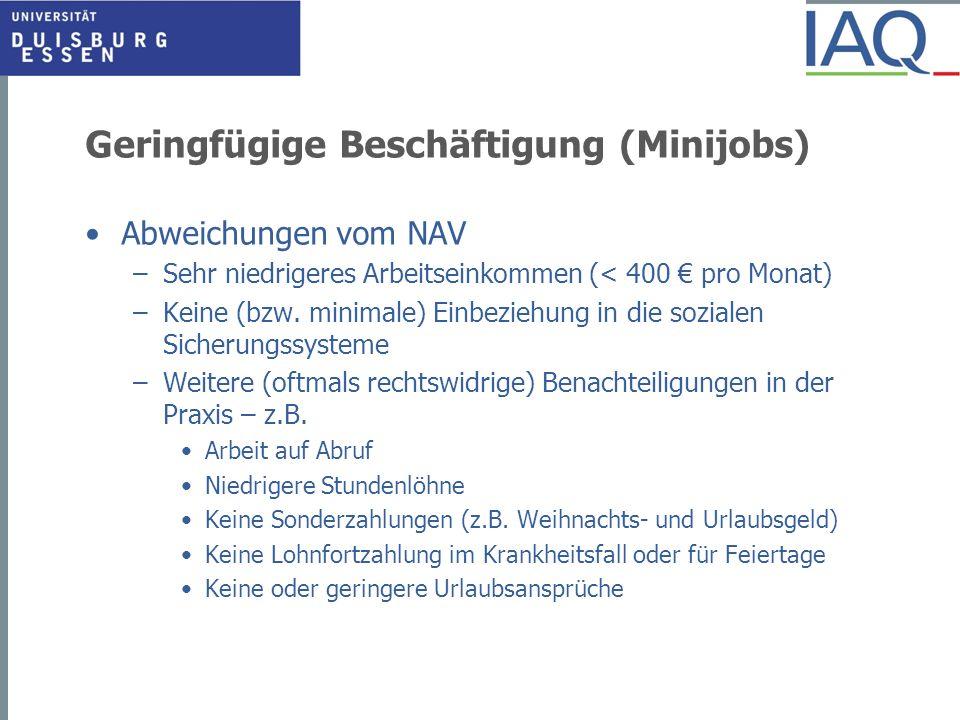 Geringfügige Beschäftigung (Minijobs)