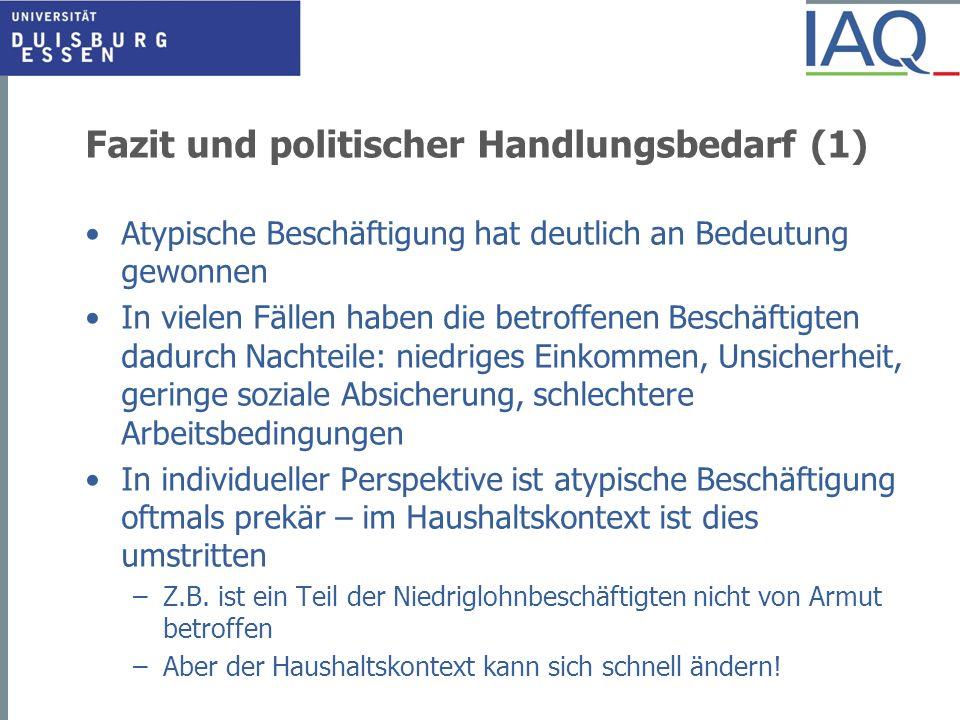 Fazit und politischer Handlungsbedarf (1)