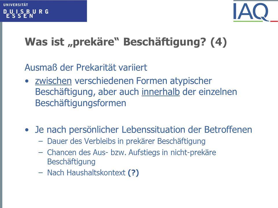 """Was ist """"prekäre Beschäftigung (4)"""