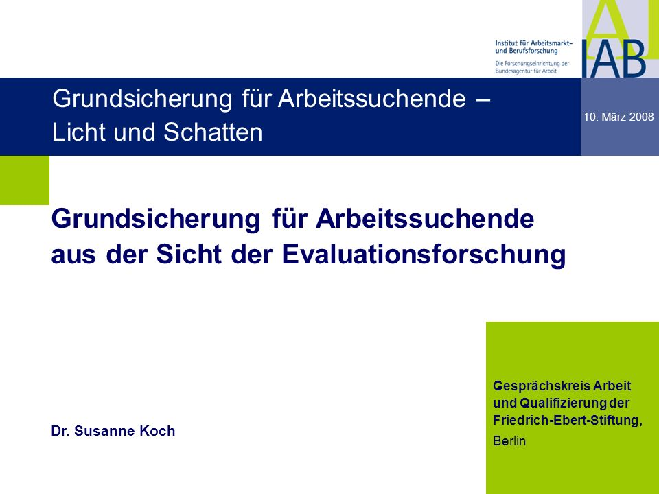 dgdg Grundsicherung für Arbeitssuchende – Licht und Schatten. 10. März 2008.
