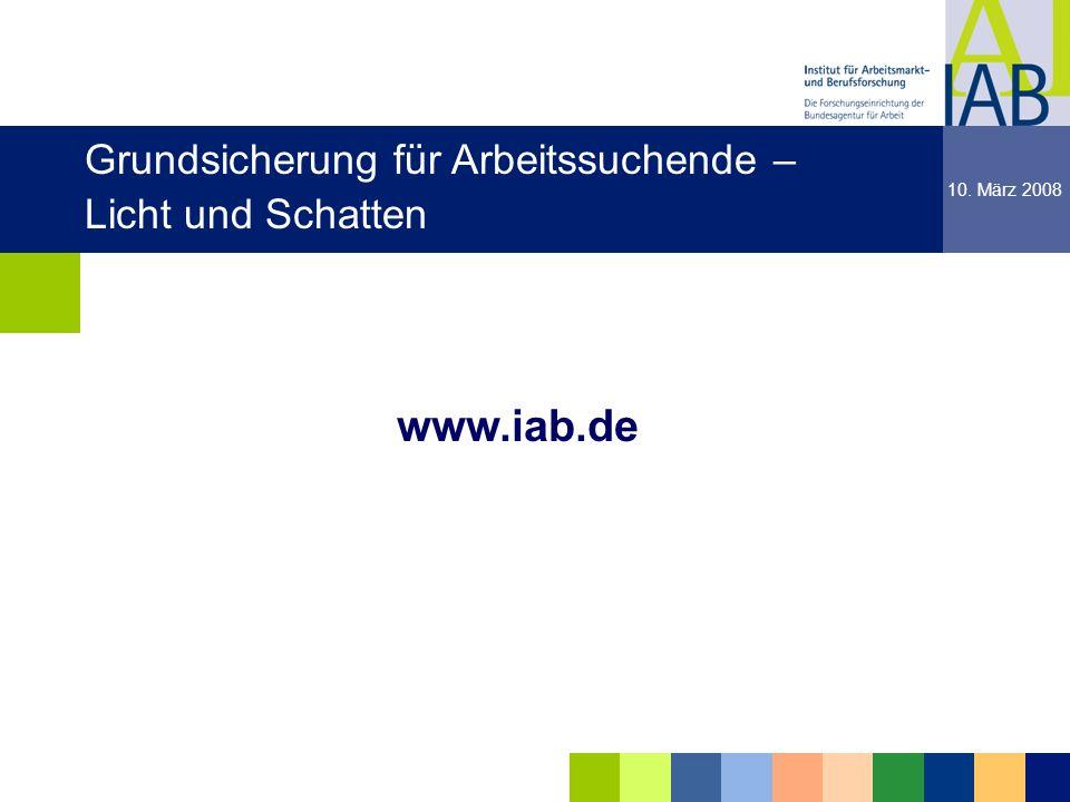 www.iab.de Grundsicherung für Arbeitssuchende – Licht und Schatten