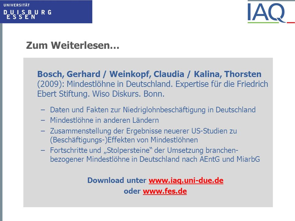 Download unter www.iaq.uni-due.de
