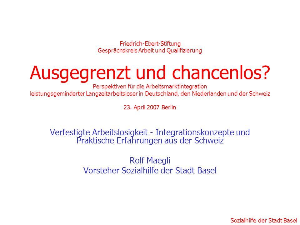 Vorsteher Sozialhilfe der Stadt Basel