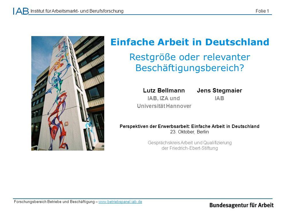 Einfache Arbeit in Deutschland