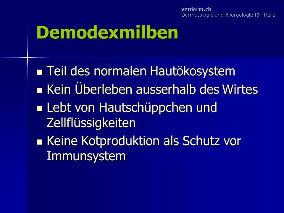 Demodexmilben Teil des normalen Hautökosystem