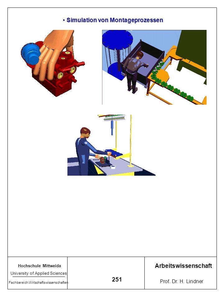 Simulation von Montageprozessen