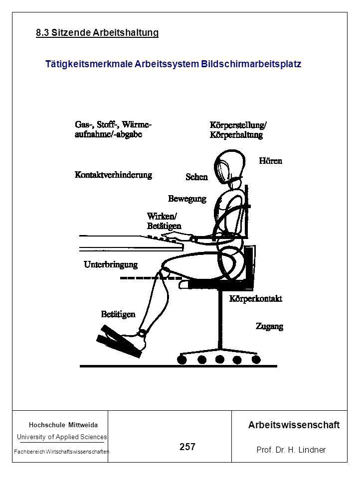 8.3 Sitzende Arbeitshaltung