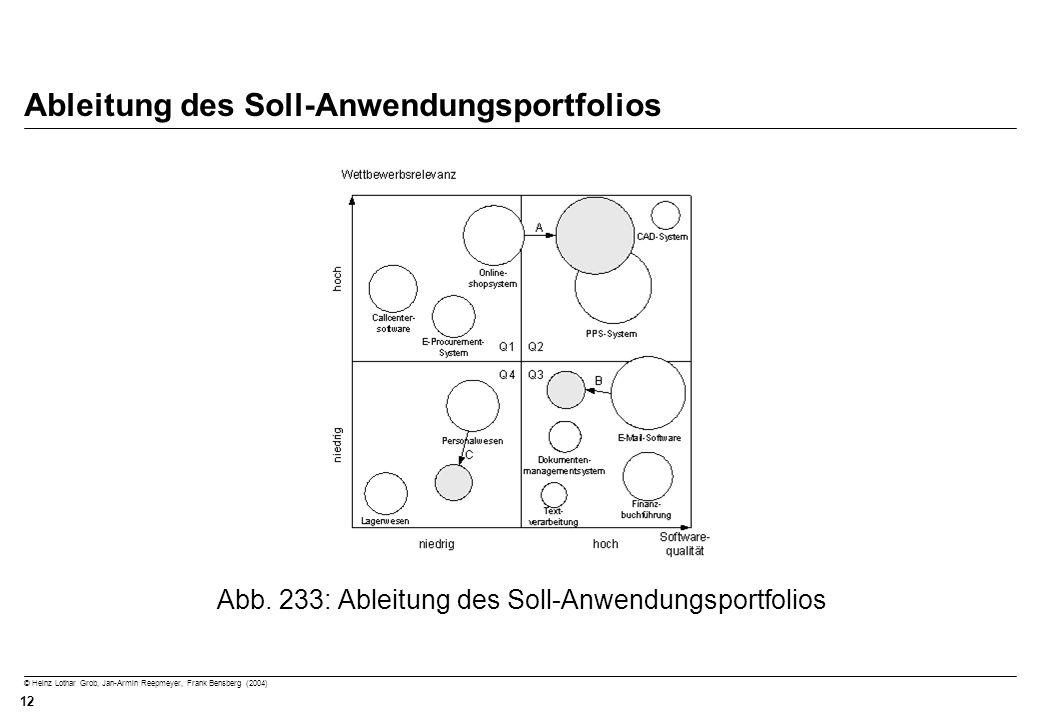 Ableitung des Soll-Anwendungsportfolios