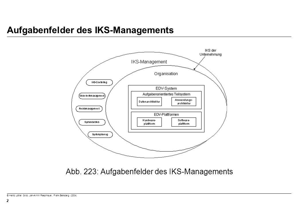 Aufgabenfelder des IKS-Managements