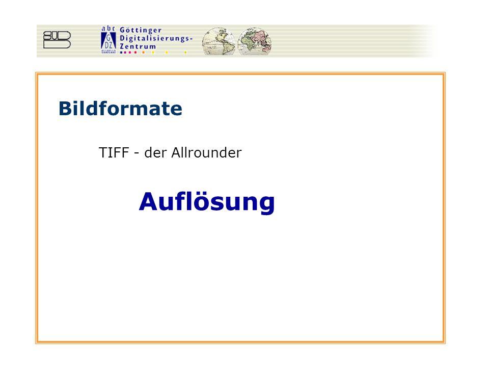 Auflösung Bildformate TIFF - der Allrounder