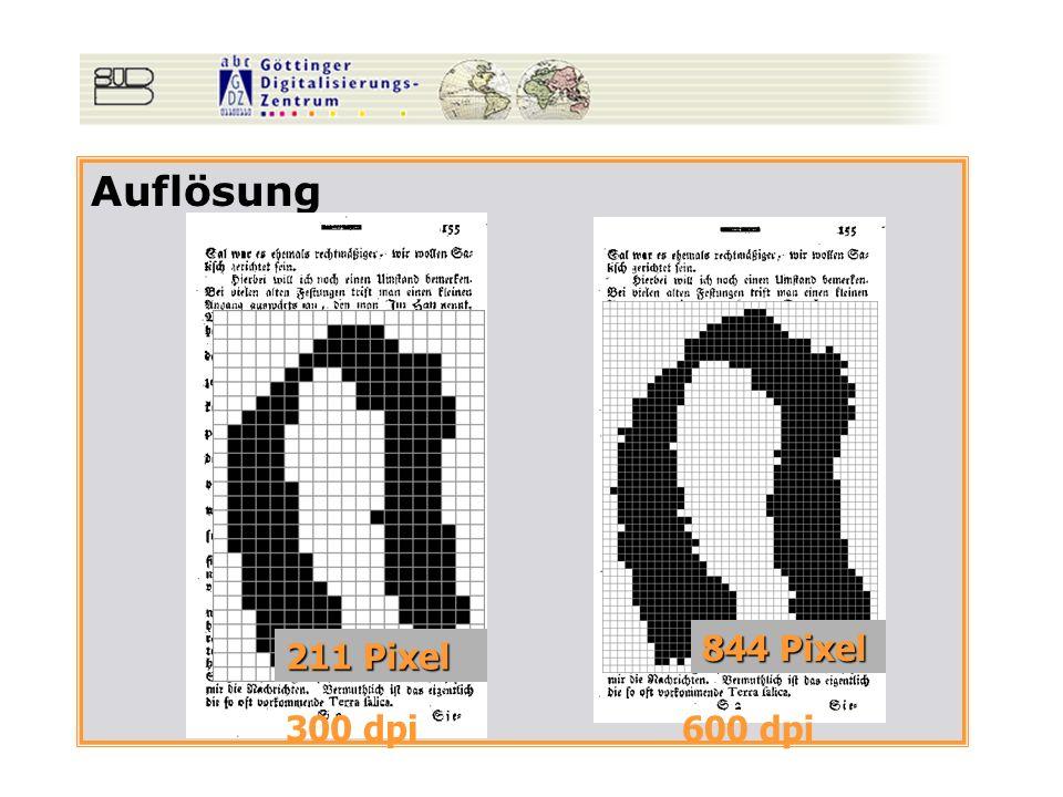 Auflösung 300 dpi 600 dpi 844 Pixel 211 Pixel