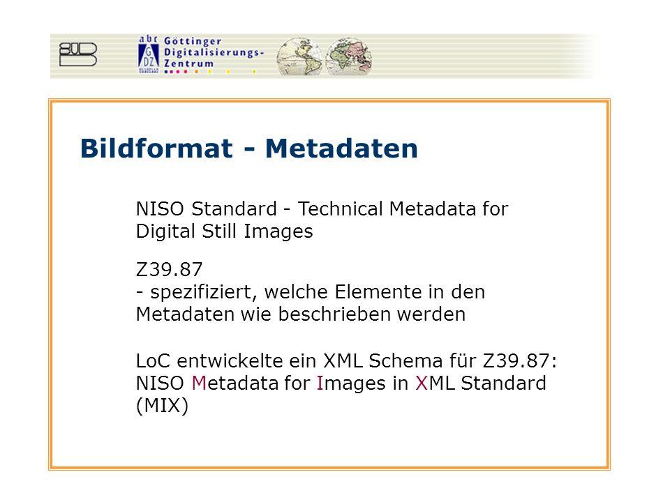 Bildformat - Metadaten