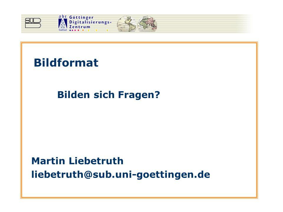 Bildformat Bilden sich Fragen Martin Liebetruth